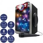 Akai CEU7300-BT Φορητό ηχείο Bluetooth karaoke με LED, μικρόφωνο, FM, USB και Aux-In – 6 W - AKAI