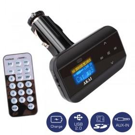 Akai FMT-30 FM transmitter και φορτιστής αυτοκινήτου με USB, κάρτα SD και Aux-In - AKAI