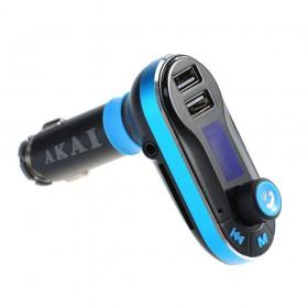 Akai FMT-66B FM transmitter και φορτιστής αυτοκινήτου με Bluetooth, 2 USB, Aux-In και κάρτα SD - AKAI