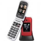 Olympia JANUS GR Κόκκινο (Ελληνικό Μενού) Κινητό τηλέφωνο για ηλικιωμένους με κουμπί SOS, Bluetooth και 2 οθόνες - OLYMPIA