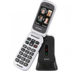 Olympia MIRA GR Μαύρο (Ελληνικό Μενού) Κινητό τηλέφωνο για ηλικιωμένους με κουμπί SOS, Bluetooth και κάμερα με φλας - OLYMPIA