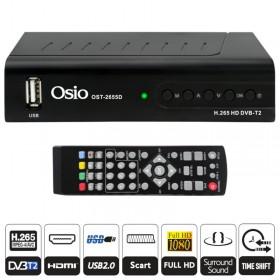 Osio OST-2655D DVB-T/T2 Full HD H.265 MPEG-4 Ψηφιακός δέκτης με USB - OSIO
