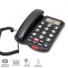 Osio OSWB-4760B Τηλέφωνο με μεγάλα πλήκτρα, ανοιχτή ακρόαση και SOS - OSIO