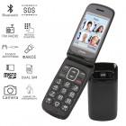 Olympia PRIMUS GR DUAL SIM (Ελληνικό Μενού) Κινητό τηλέφωνο για ηλικιωμένους με κουμπί SOS και κάμερα Μαύρο - OLYMPIA