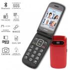 Olympia PRIMUS GR DUAL SIM (Ελληνικό Μενού) Κινητό τηλέφωνο για ηλικιωμένους με κουμπί SOS και κάμερα Κόκκινο - OLYMPIA