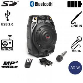 Akai SS022A-X6 Φορητό ηχείο Bluetooth με ενισχυτή, USB και κάρτα SD – 30 W RMS - AKAI