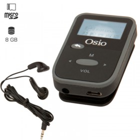 OSIO SRM-7880BG MP3 PLAYER ΜΕ ΚΛΙΠ, ΜΑΥΡΟ 8GB - OSIO