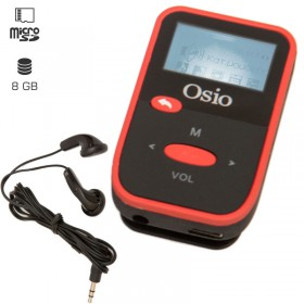 OSIO SRM-7880BR MP3 PLAYER ΜΕ ΚΛΙΠ, ΚΟΚΚΙΝΟ 8GB - OSIO