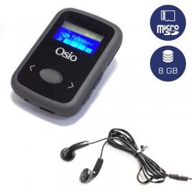 OSIO SRM-7980BG MP3 PLAYER ΜΕ ΚΛΙΠ, ΜΑΥΡΟ 8GB - OSIO