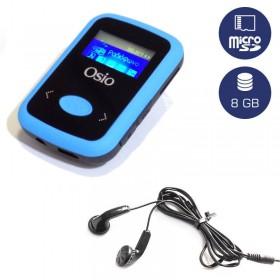 OSIO SRM-7980BB MP3 PLAYER ΜΕ ΚΛΙΠ ΜΠΛΕ 8GB - OSIO