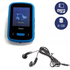 OSIO SRM-9280BB MP3 / VIDEO PLAYER ΜΕ ΚΛΙΠ ΜΠΛΕ 8GB - OSIO