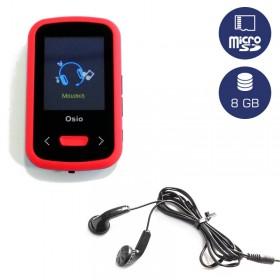 OSIO SRM-9280BR MP3 / VIDEO PLAYER ΜΕ ΚΛΙΠ ΚΟΚΚΙΝΟ 8GB - OSIO