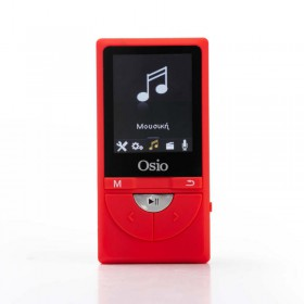 Osio SRM-9380R MP3 video player με audio in και micro SD – 8 GB - OSIO