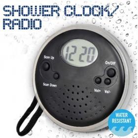 Αδιάβροχο ραδιόφωνο-ρολόι