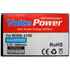 ΜΠΑΤΑΡΙΑ NOKIA 6100 1000mAh Li-ion ΜΕ ΠΛΑΤΗ VoltePower