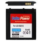 ΜΠΑΤΑΡΙΑ LG KG810 BLACK 750mAh Li-ion (LGLP-GAMM)VoltePower