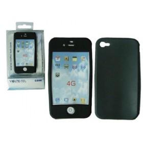 ΘΗΚΗ IPHONE 4G/4S ΣΙΛΙΚΟΝΗΣ BLACK VOLTE-TEL