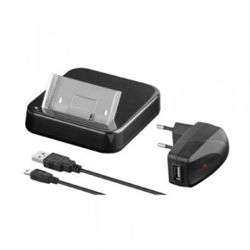 DOCKING STATION IPHONE 4G/4S USB TRAVEL + USB ΦΟΡΤΙΣΤΗΣ