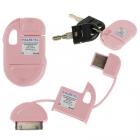 APPLE IPHONE 4G/4S USB ΦΟΡΤΙΣΤΗΣ-DATA ΜΠΡΕΛΟΚ VCD-04 PINK VL