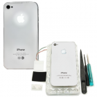 IPHONE 4G BATTERY COVER WHITE LIGHT UP +3TOOLS+2STICKER VOLTETEL