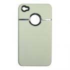 VOLTE-TEL ΘΗΚΗ IPHONE 4G/4S FACEPLATE HARD V020 WHITE-SILVER