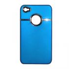 ΘΗΚΗ IPHONE 4G/4S FACEPLATE HARD V021 BLUE-SILVER VOLTE-TEL