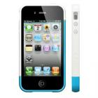 ΘΗΚΗ IPHONE 4G/4S BUMPER 2 PCS+SCREEN PROTECTOR WHITE-LIGHT BLUE