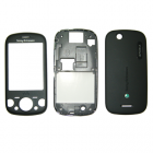 SONY ERICSSON W20 Zylo FRONT- MIDDLE-BATTERY COVER BLACK 3P OR