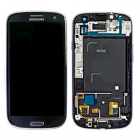 SAMSUNG I9300 FRONT + ΟΘΟΝΗ + TOUCH SCREEN + LENS PEBBLE BLUE OR