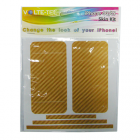 SKIN KIT COVER STICKER GOLD IPHONE 4G/4S VOLTE-TEL
