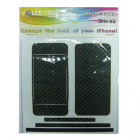 SKIN KIT COVER STICKER BLACK IPHONE 4G/4S VOLTE-TEL
