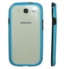ΘΗΚΗ SAMSUNG I9300 BUMPER PC-SILICONE BLUE-BLACK VOLTE-TEL