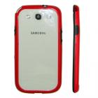 VOLTE-TEL ΘΗΚΗ SAMSUNG I9300 BUMPER PC-SILICONE RED-BLACK