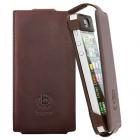 ΘΗΚΗ IPHONE SE/5S/5/5C LEATHER FLIP CASE BROWN BUGATTI