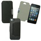 ΘΗΚΗ IPHONE SE/5/5S PU LEATHER METAL BOOK-STAND BLACK VOLTE-TEL