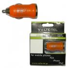VOLTE-TEL USB ΦΟΡΤΙΣΤΗΣ ΑΥΤΟΚΙΝΗΤΟΥ mini VCU09 1200mA ORANGE