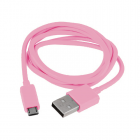 VOLTE-TEL MICRO USB DEVICES USB ΦΟΡΤΙΣΗΣ-DATA 2.1A 1m VCD01 PINK