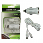 VOLTE-TEL MICRO USB(ΦΟΡΤΙΣΗΣ-DATA VCD01+Φ.Α VCU09 1200mA) WHITE