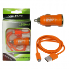 MICRO USB(ΦΟΡΤΙΣΗΣ-DATA VCD01+Φ.Α VCU09 1200mA) ORANGE VT
