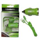 VOLTE-TEL LIGHTNING USB(ΦΟΡΤΙΣΗΣ-DATA VCD01+Φ.Α VCU09 1200mA)GREEN