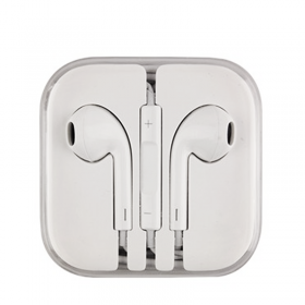 APPLE HANDS FREE STEREO EARPODS WITH REMOTE AND MIC MD827ZM/A 3.5m WHITE BULK BOX OR