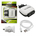 MICRO USB(USB DATA VCD01+TRAVEL VTU64 2400mA+Φ.Α VCU33)WHITE VL