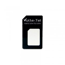 NANO SIM CARD TO SIM CARD ADAPTOR BLACK VOLTE-TEL