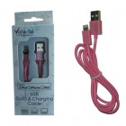 LIGHTNING USB 2.1A ΦΟΡΤΙΣΗΣ-DATA 1m VOLTE-TEL PINK VCD01 iOS11