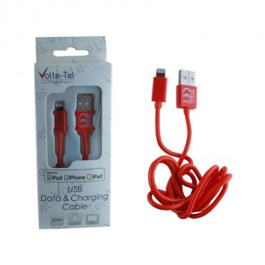 VOLTE-TEL LIGHTNING USB 2.1A ΦΟΡΤΙΣΗΣ-DATA 1m ORANGE VCD01 iOS11