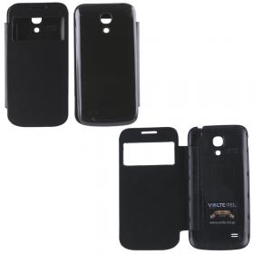 ΘΗΚΗ SAMSUNG I9195 S4 MINI BATTERY COVER VIEW BLACK VOLTE-TEL
