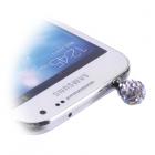 EARPHONE ANTI-DUST JACK PLUG 3.5mm DIAMOND BALL WHITE