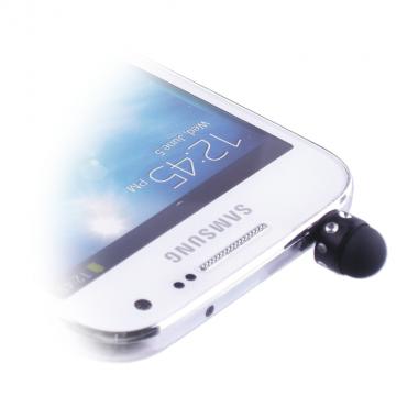 EARPHONE ANTI-DUST JACK PLUG 3.5mm + STYLUS TOUCH PEN BLACK