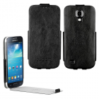 BUGATTI ΘΗΚΗ SAMSUNG I9195 LEATHER ULTRA THIN FLIPCASE BLACK