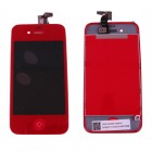 IPHONE 4G ΟΘΟΝΗ OR +TOUCH+LENS+HOME BUTTON-SPEAKER MESH RED